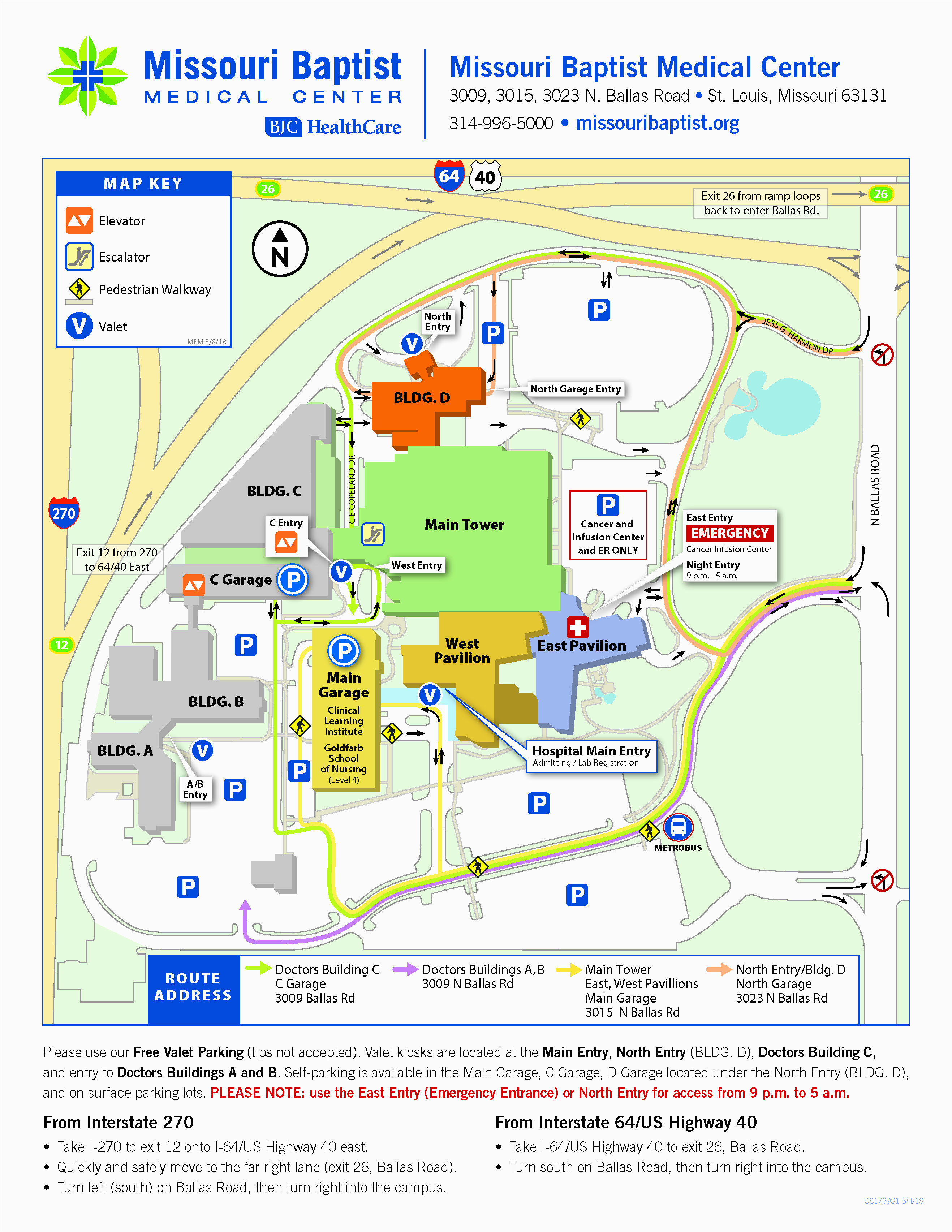 Odu Parking Map Ohio Dominican University Campus Map Odu Parking Map Double Map