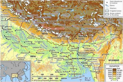 ganges river history location map facts britannica com