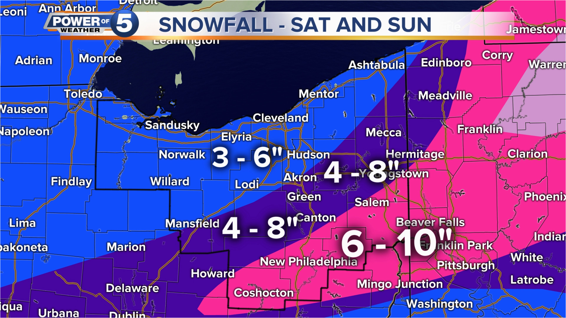 these are the latest snowfall projections for the winter storm this