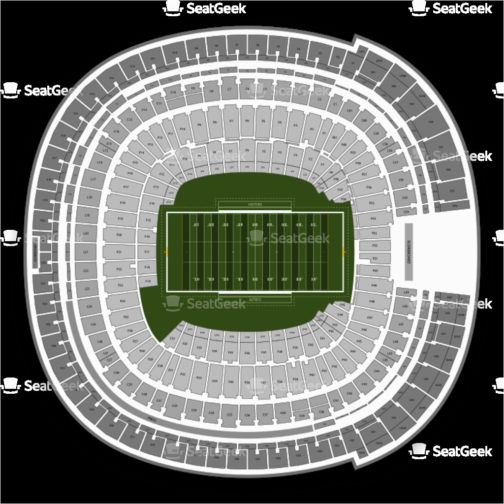 Ohio State Stadium Map Sdccu Stadium Seating Chart Map