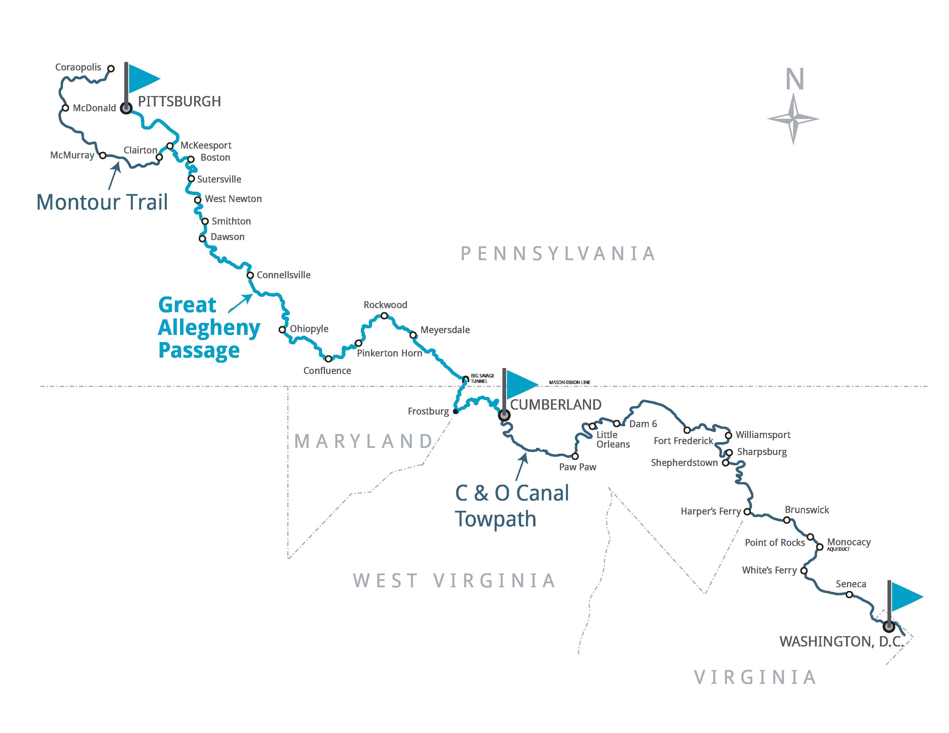 america s friendliest long distance rail trail great allegheny passage