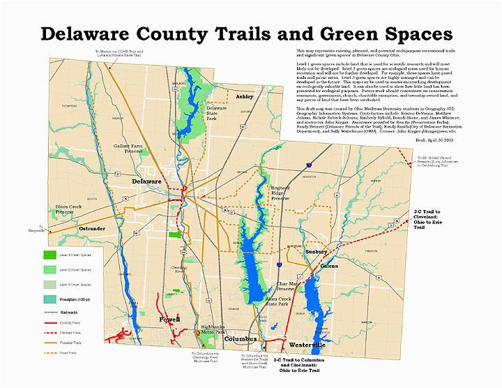 delaware ohio recreational trails gis collaboration