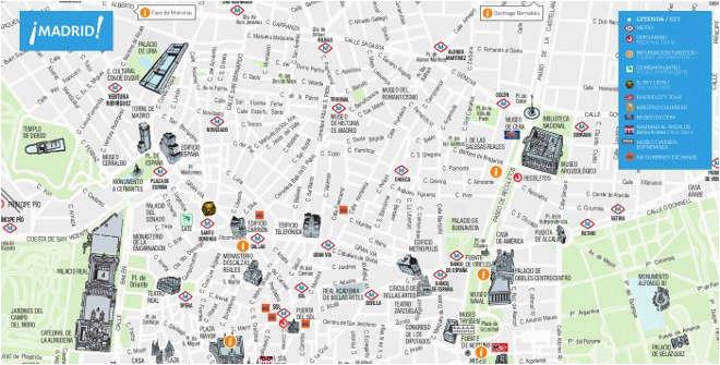 city map of madrid