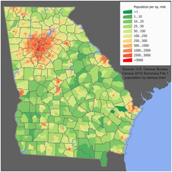 Population Density Map Of Georgia Secretmuseum - Us-demographics-map