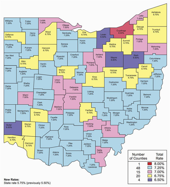 Sales Tax Map Ohio | secretmuseum