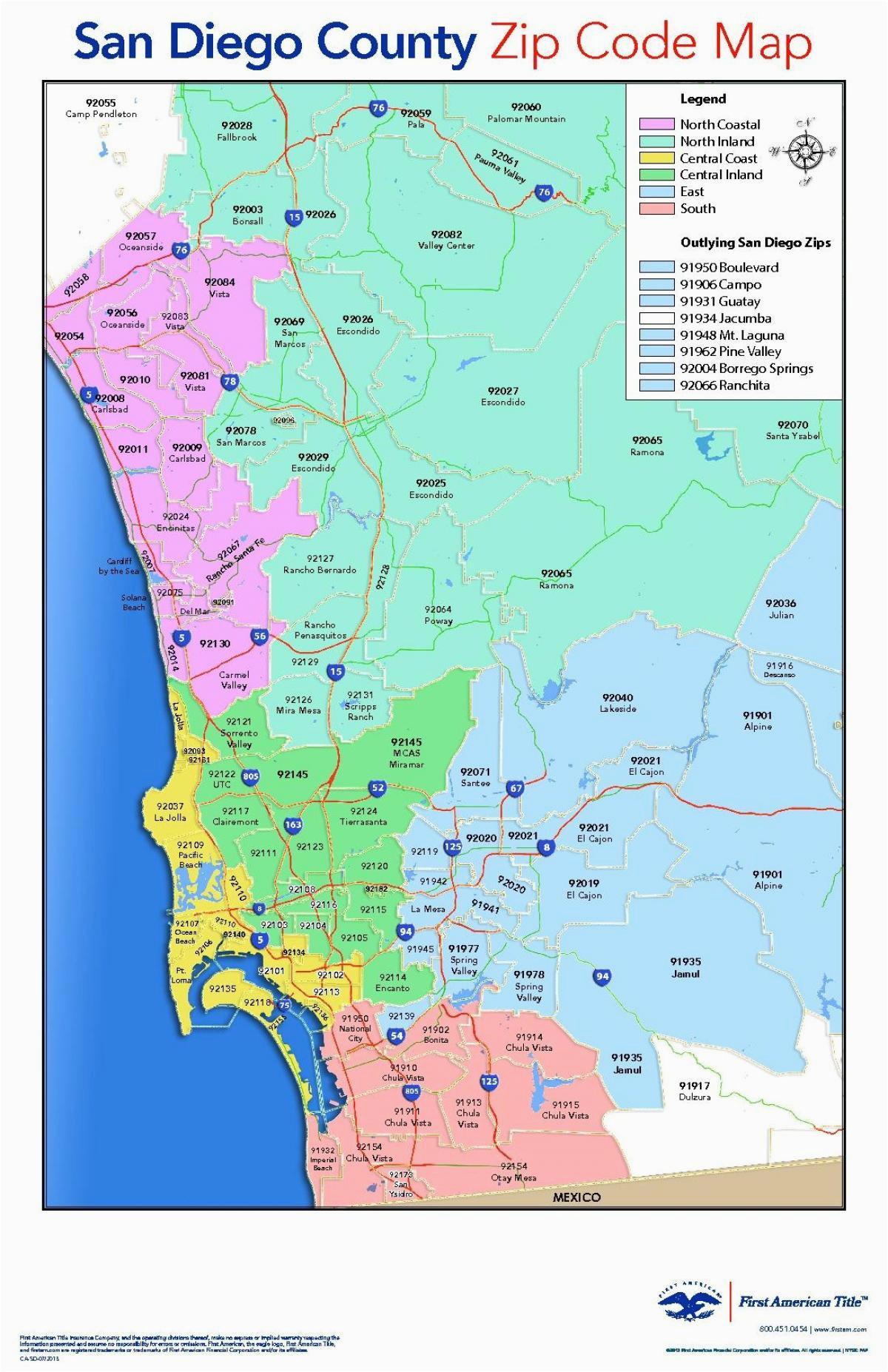 San Diego California Zip Code Map | secretmuseum