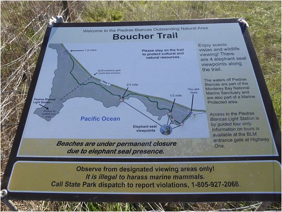 boucher trail map bild von piedras blancas san simeon tripadvisor