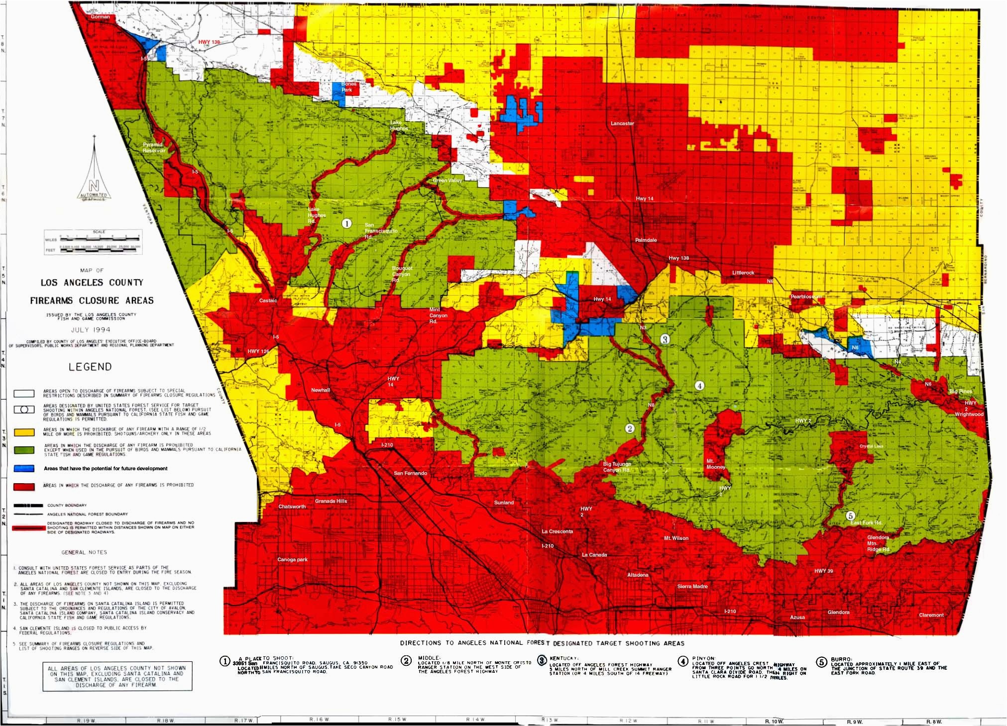 map of kern county california best of california hunting zone map