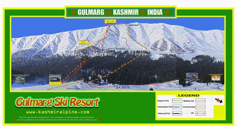 gulmarg piste map trail map