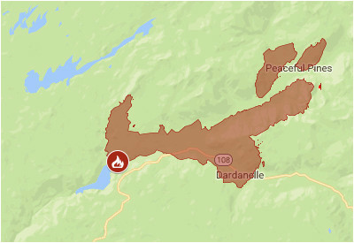 california fire map closed roads towns pacific crest trail