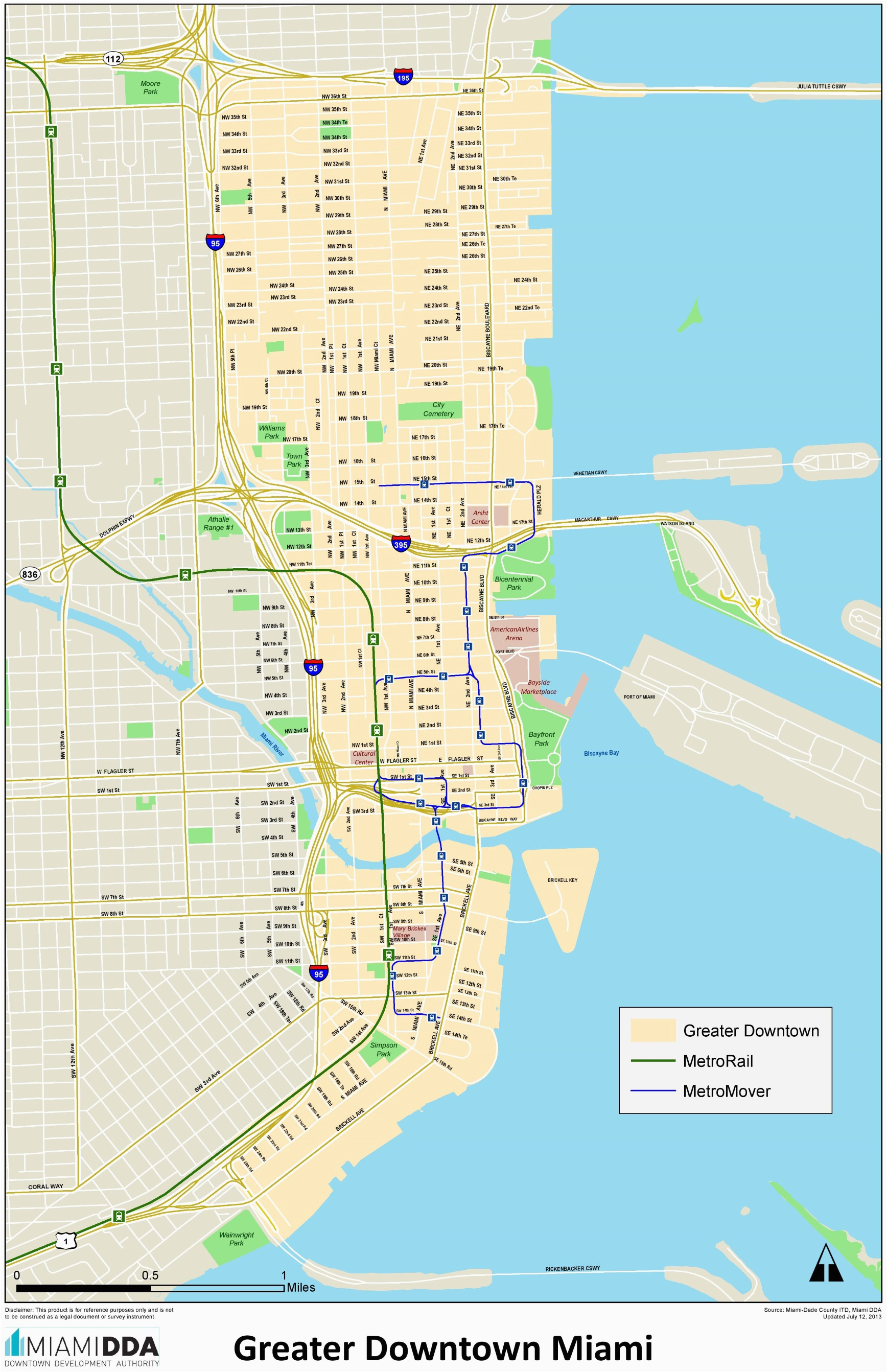 miami downtown map