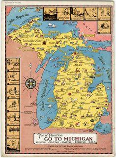 Sturgis Michigan Map 102 Best Michigan Images Mackinac
