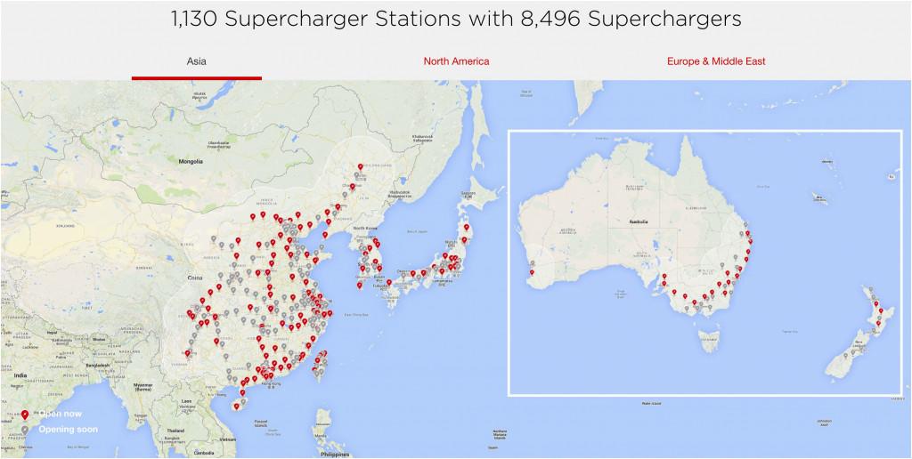 Tesla Supercharger Map California Tesla Supercharger Map ...