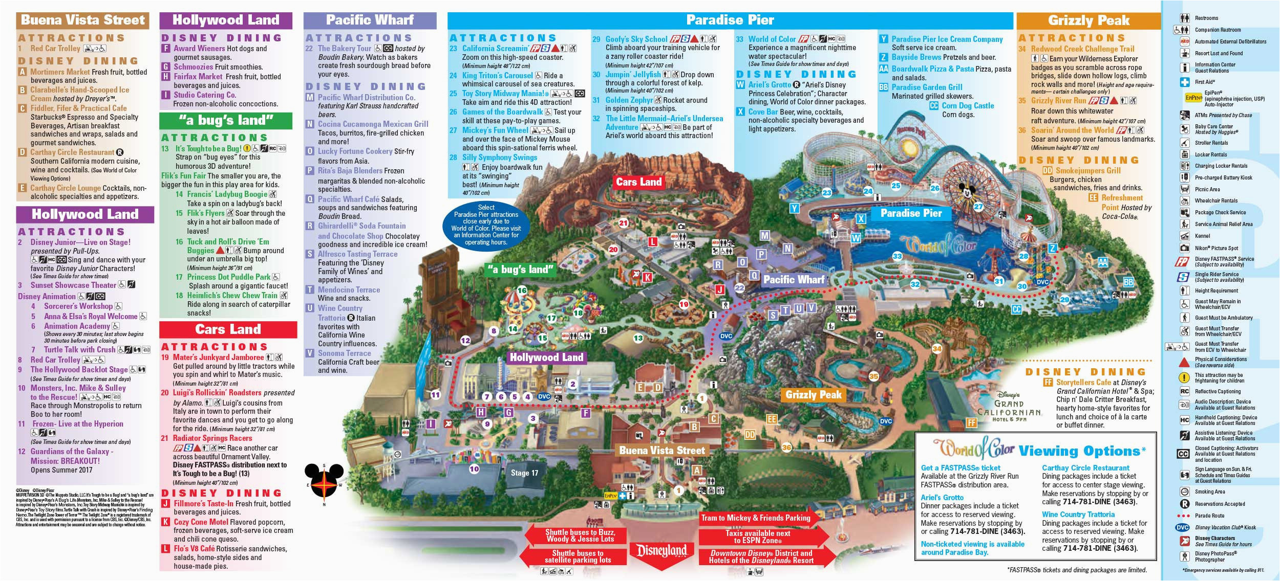 Theme Parks In California Map | secretmuseum on