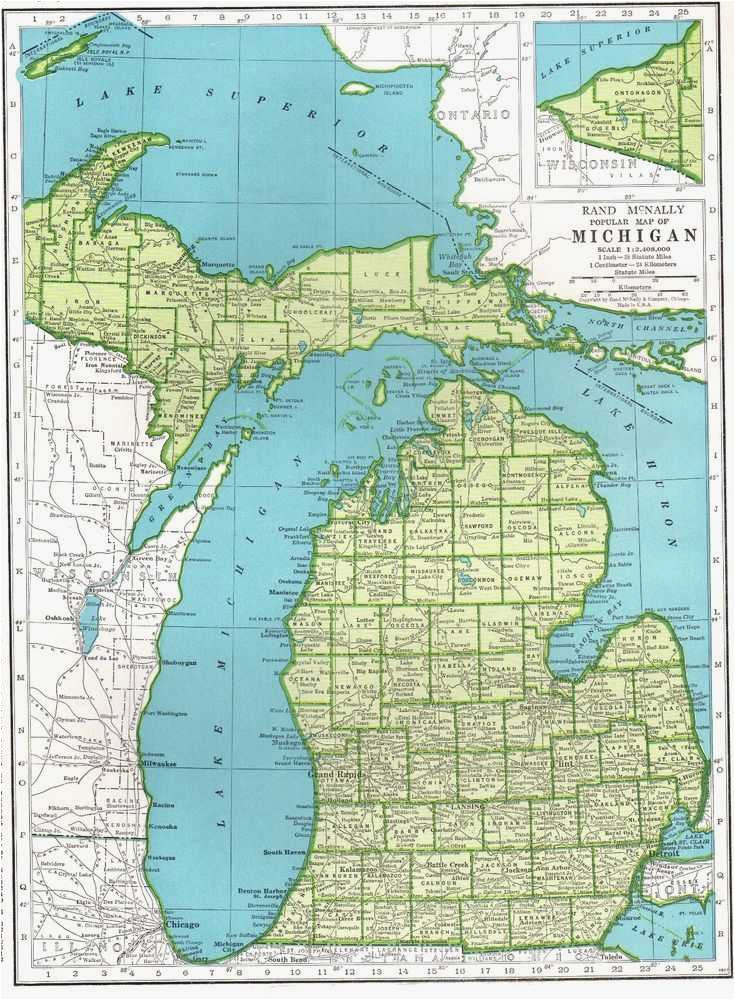 michigan elevation map maps directions