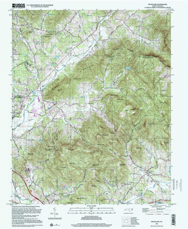 amazon com yellowmaps fruitland nc topo map 1 24000 scale 7 5 x