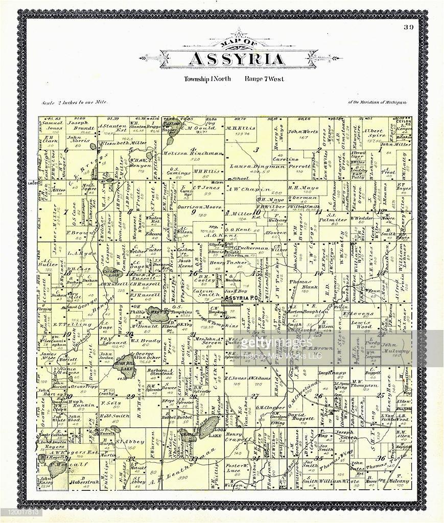 michigan 1895 assyria township assyria barry county stock