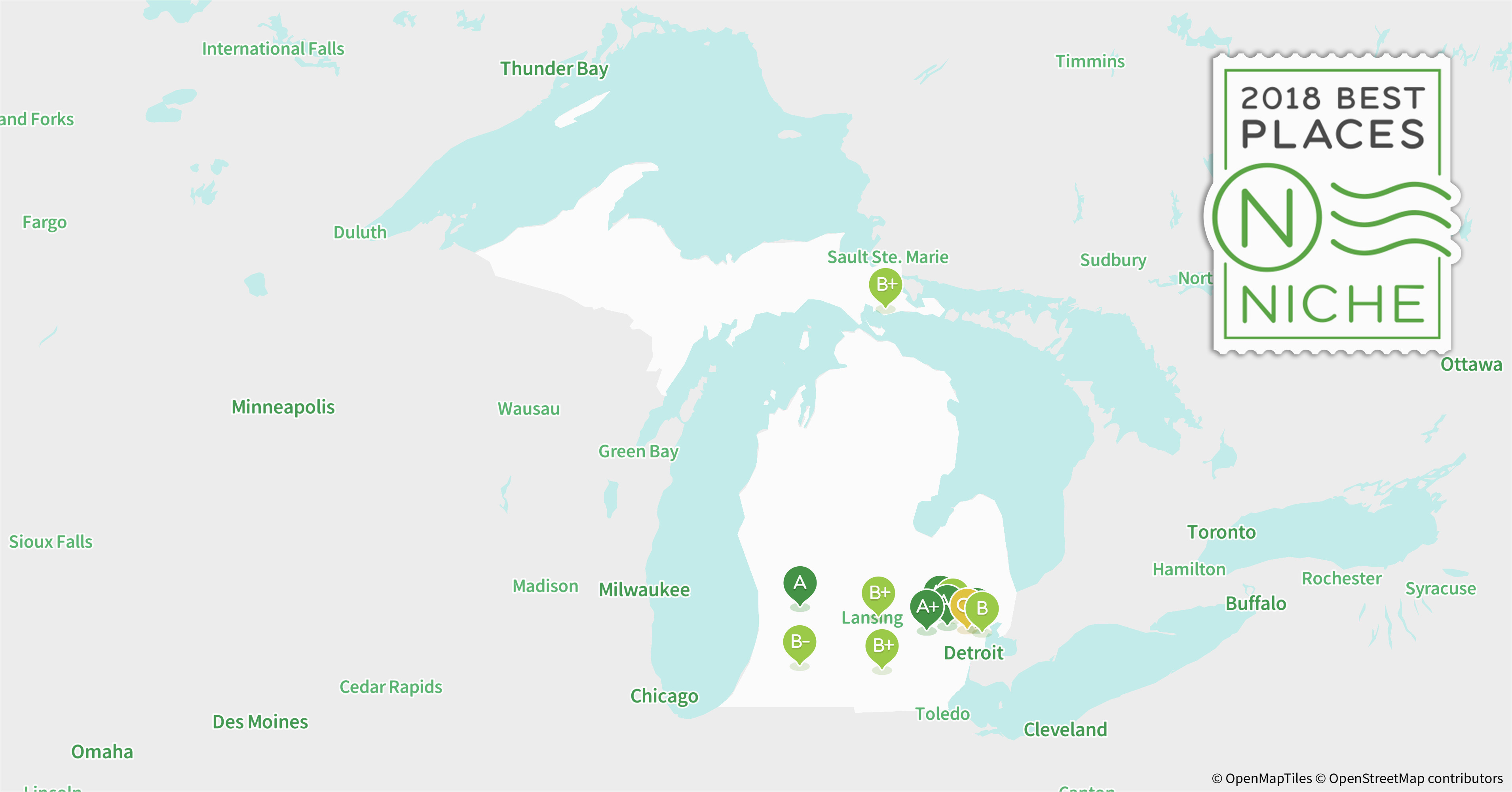 Michigan Zip Code Map on