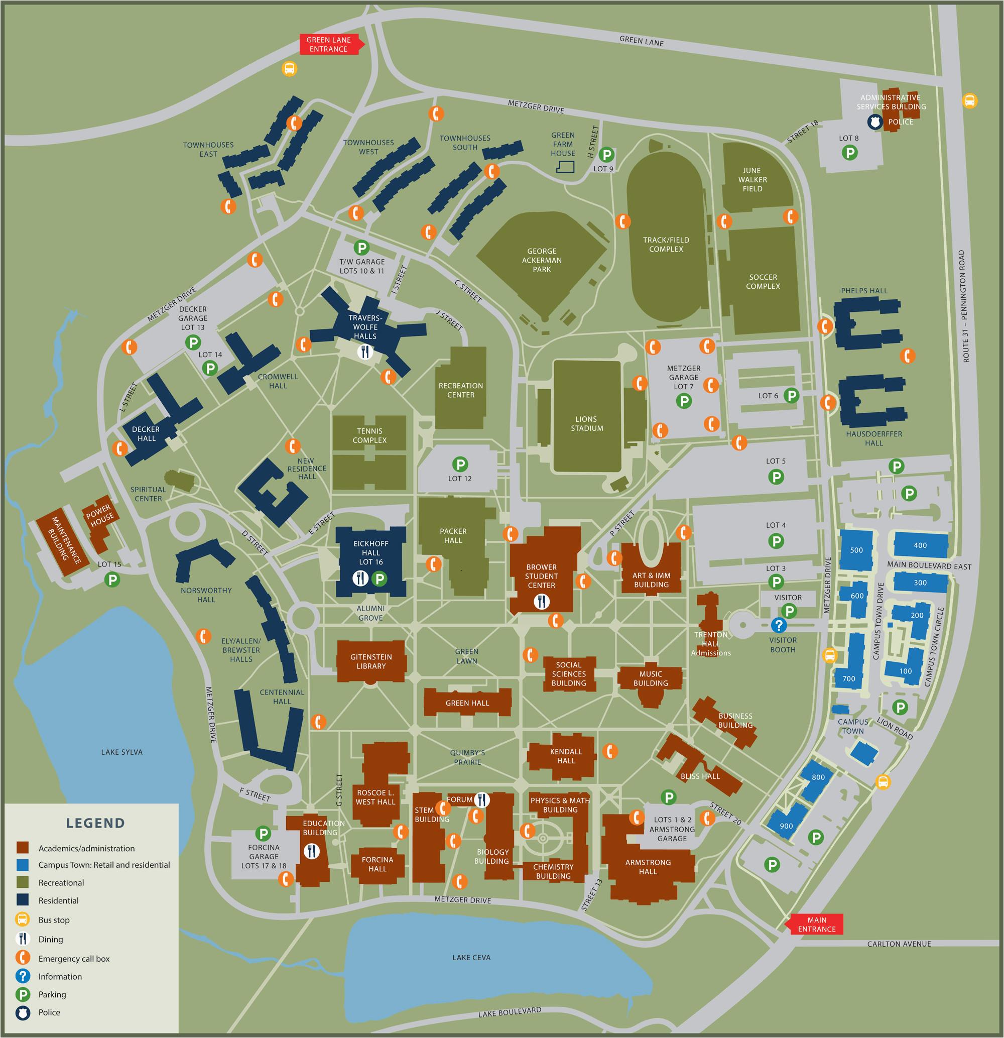 map california california university pa campus map map collection