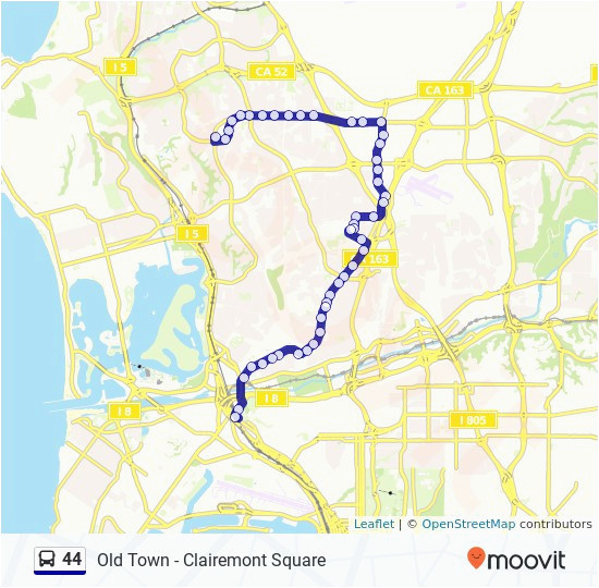 university of california san diego map 44 route time schedules