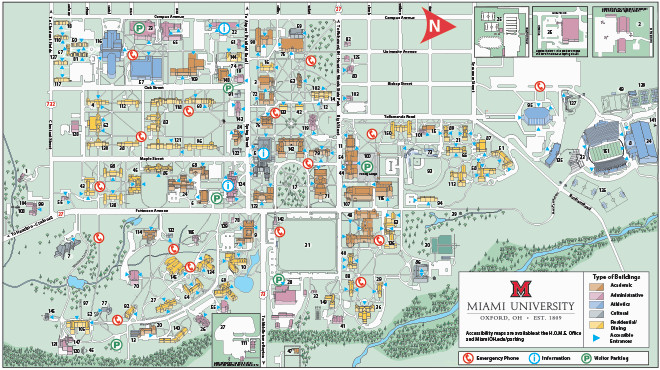 University Of Michigan North Campus Map Oxford Campus Maps