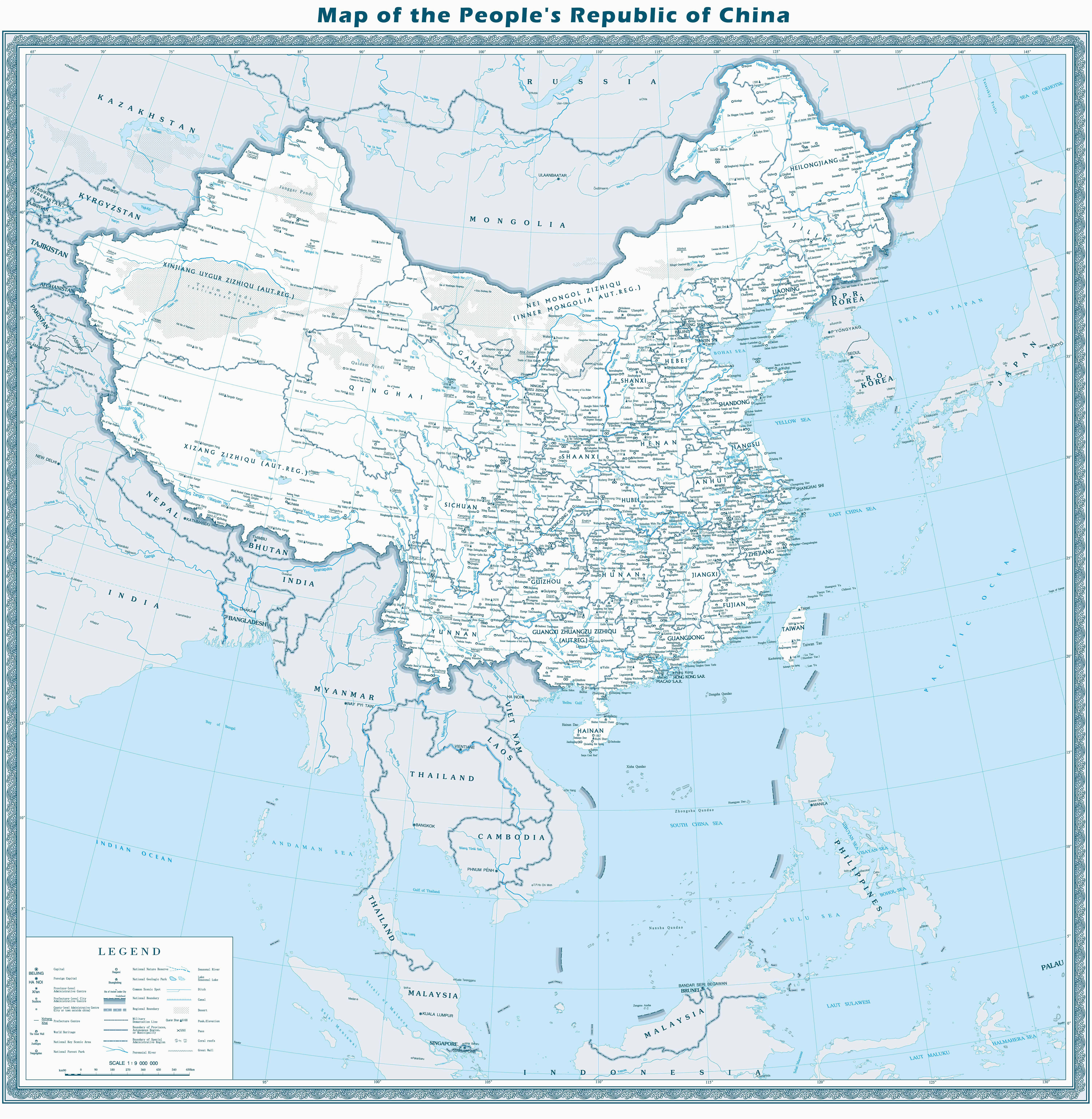 map of china maps of city and province travelchinaguide com
