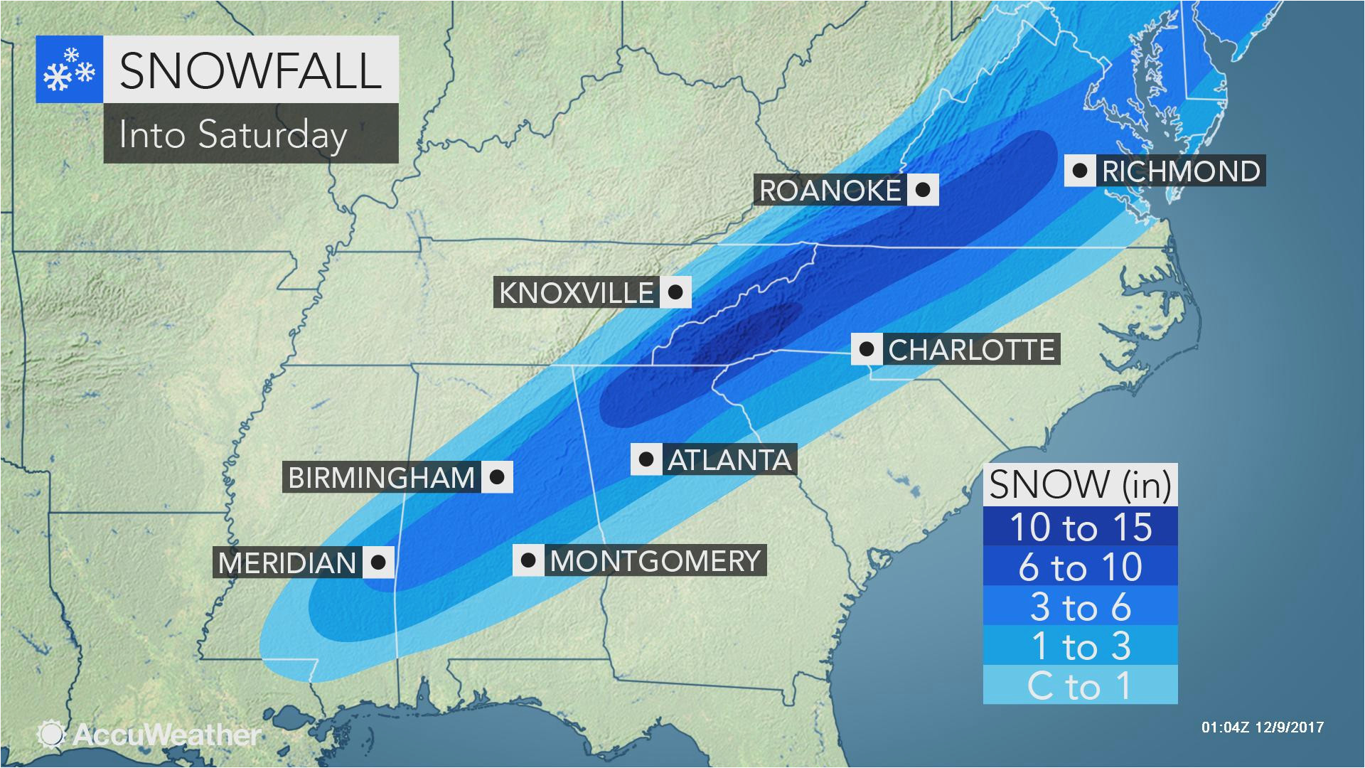 snowstorm cold rain and severe weather threaten southeastern us