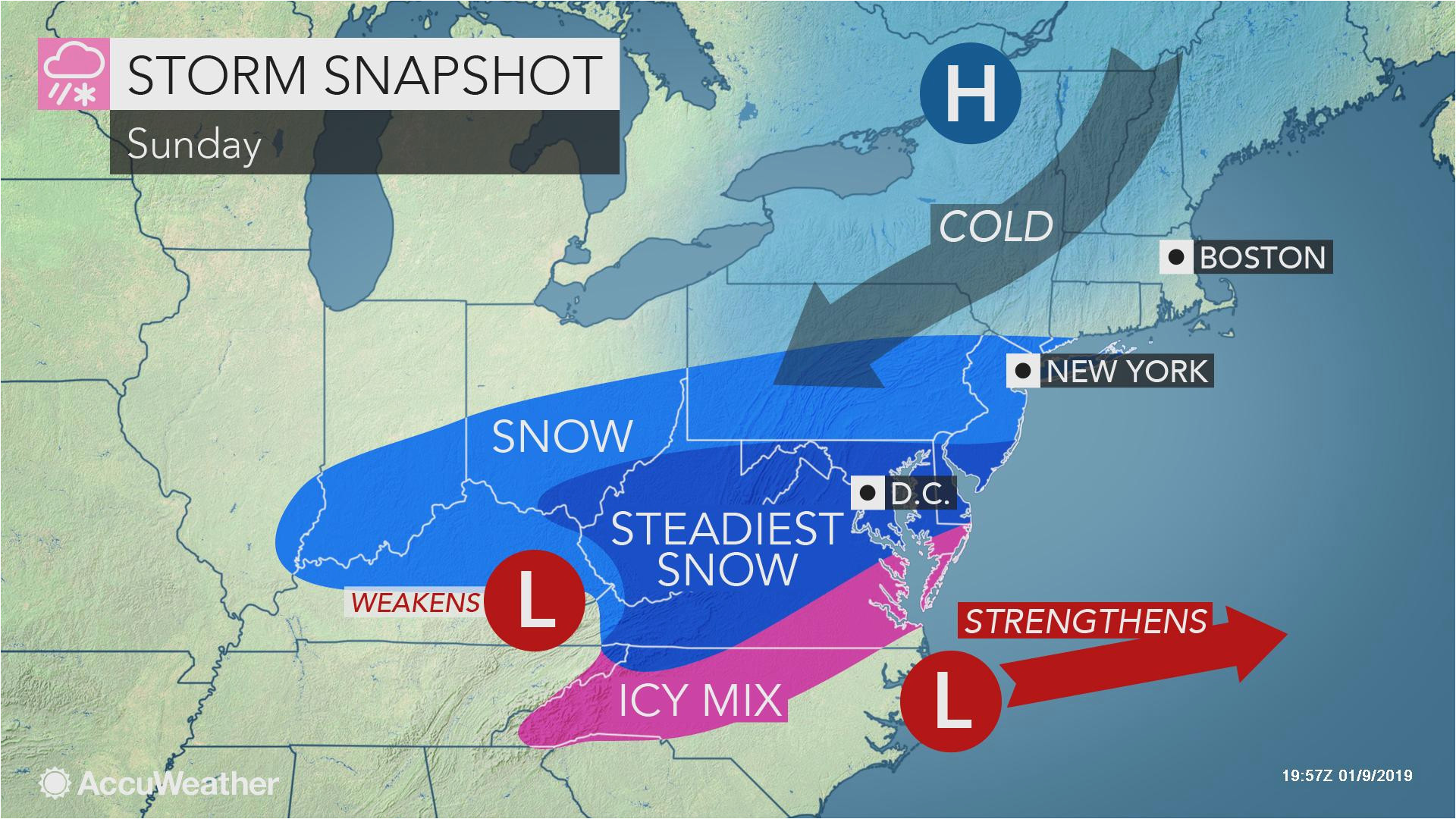 weekend storm to unleash snow ice from north carolina to virginia