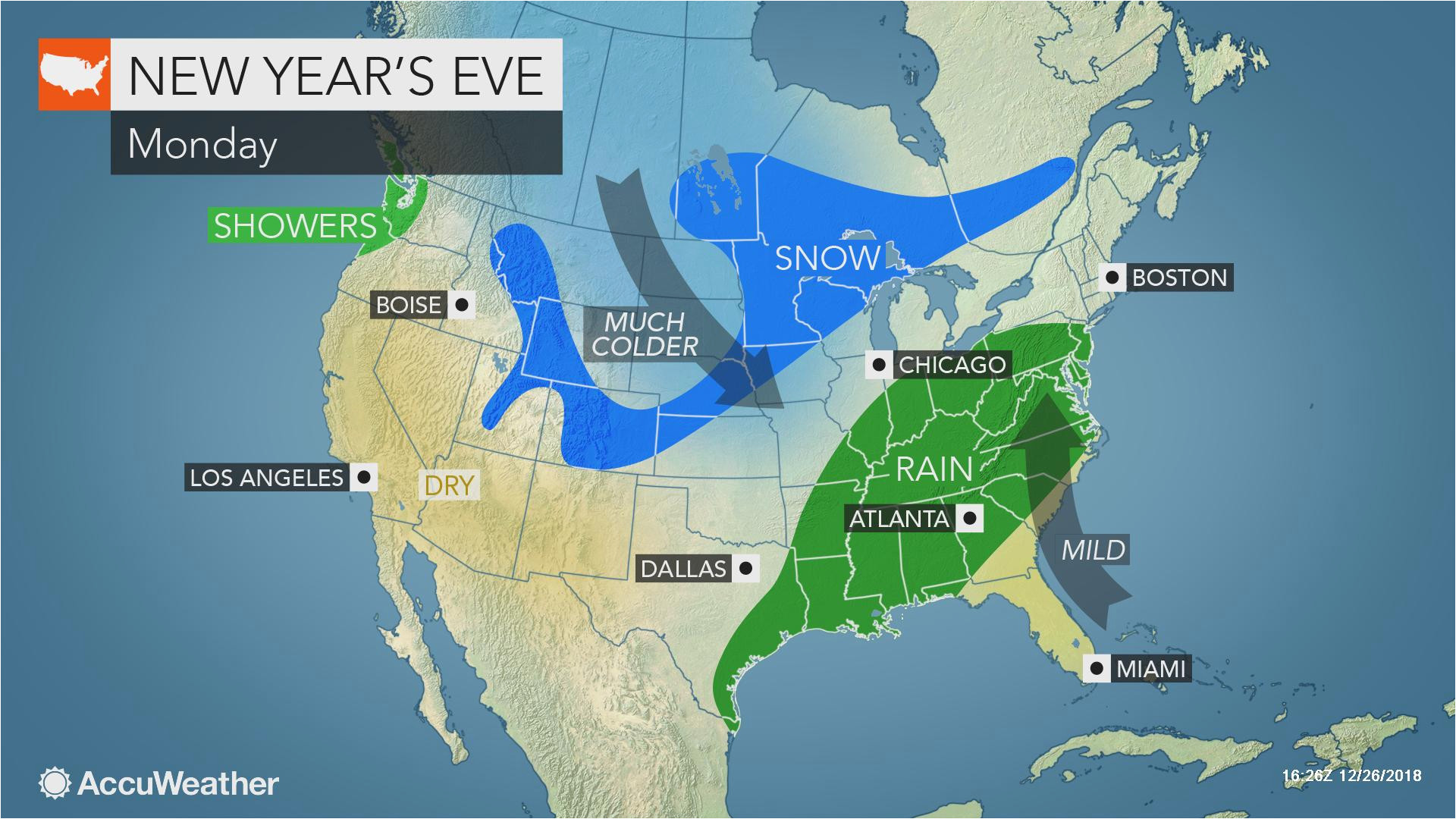 eastern us may face wet snowy weather as millions celebrate the end