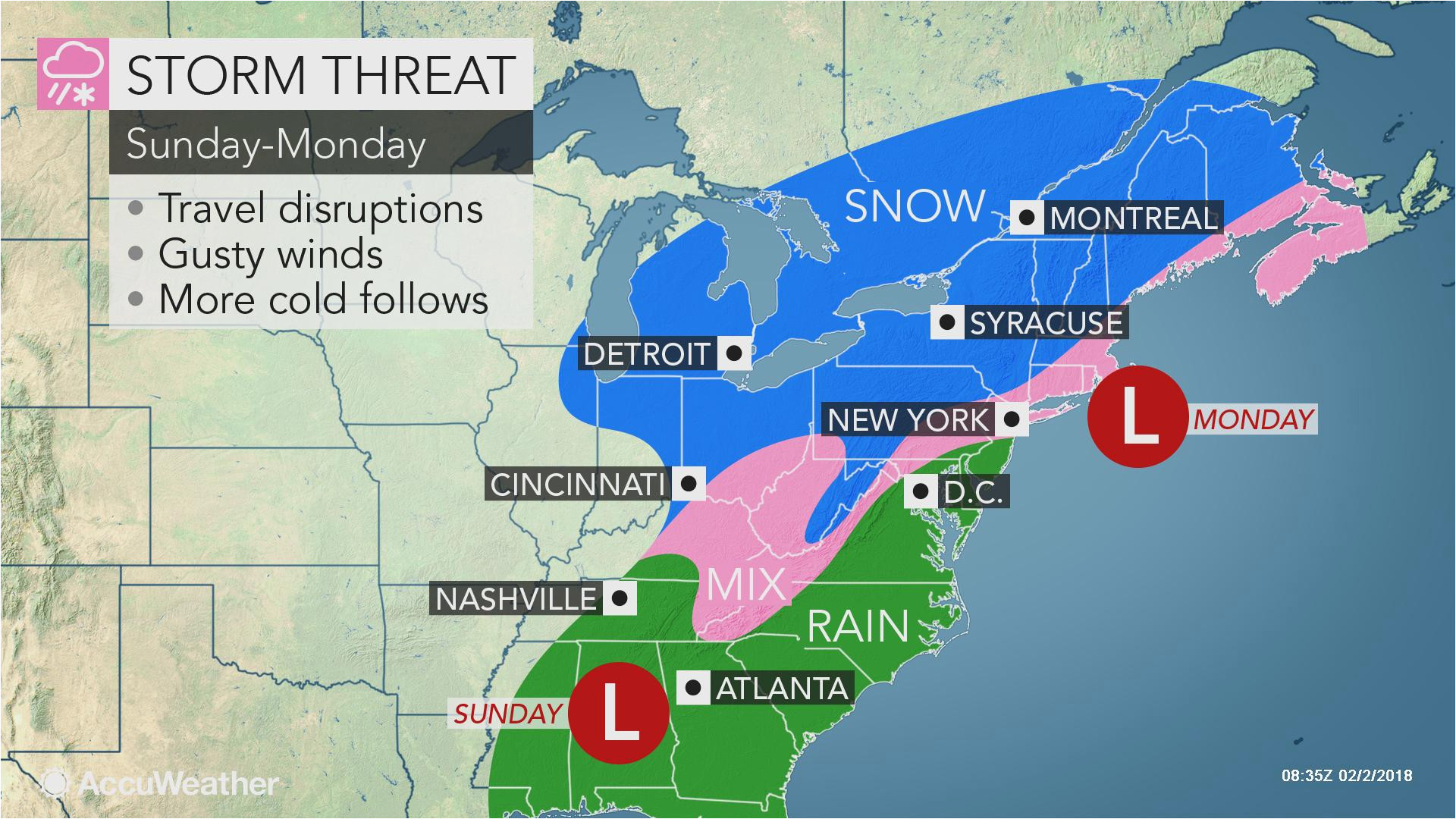 potent winter storm to lash eastern us with snow soaking rain by