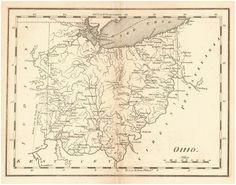 18 best ohio images antique maps old maps antique