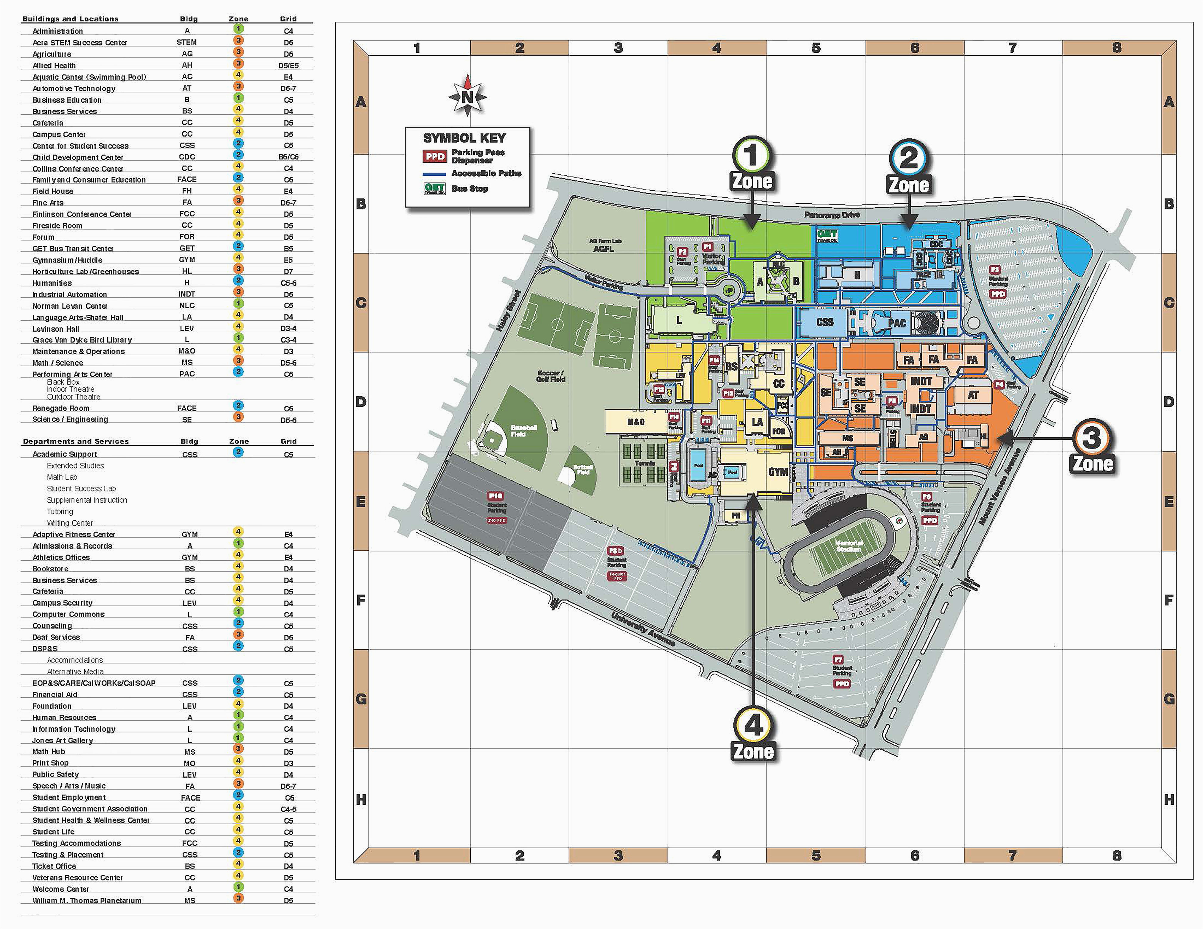 map california california university pa campus map with state
