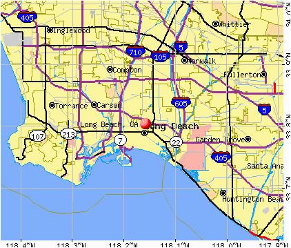 Where is Long Beach California On Map | secretmuseum