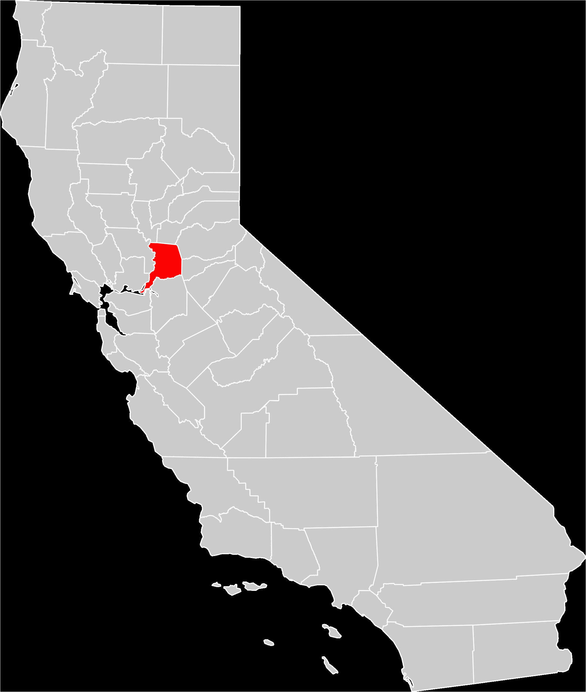 Where is Sacramento In California On Map