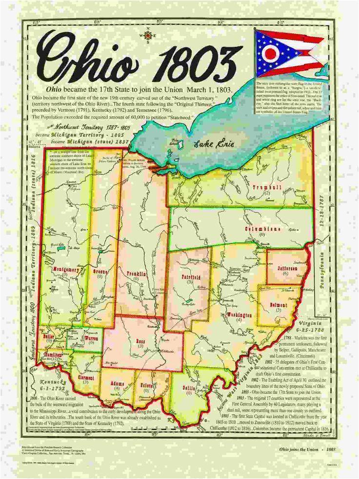 ohio state history map genealogy maps pinterest ohio