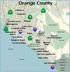 17 best orange county images california map orange county