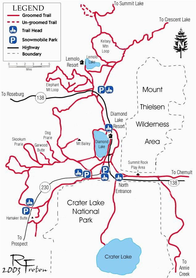 A Map Of the oregon Trail Diamond Lake Map Snowmobiles Diamond Lake ...