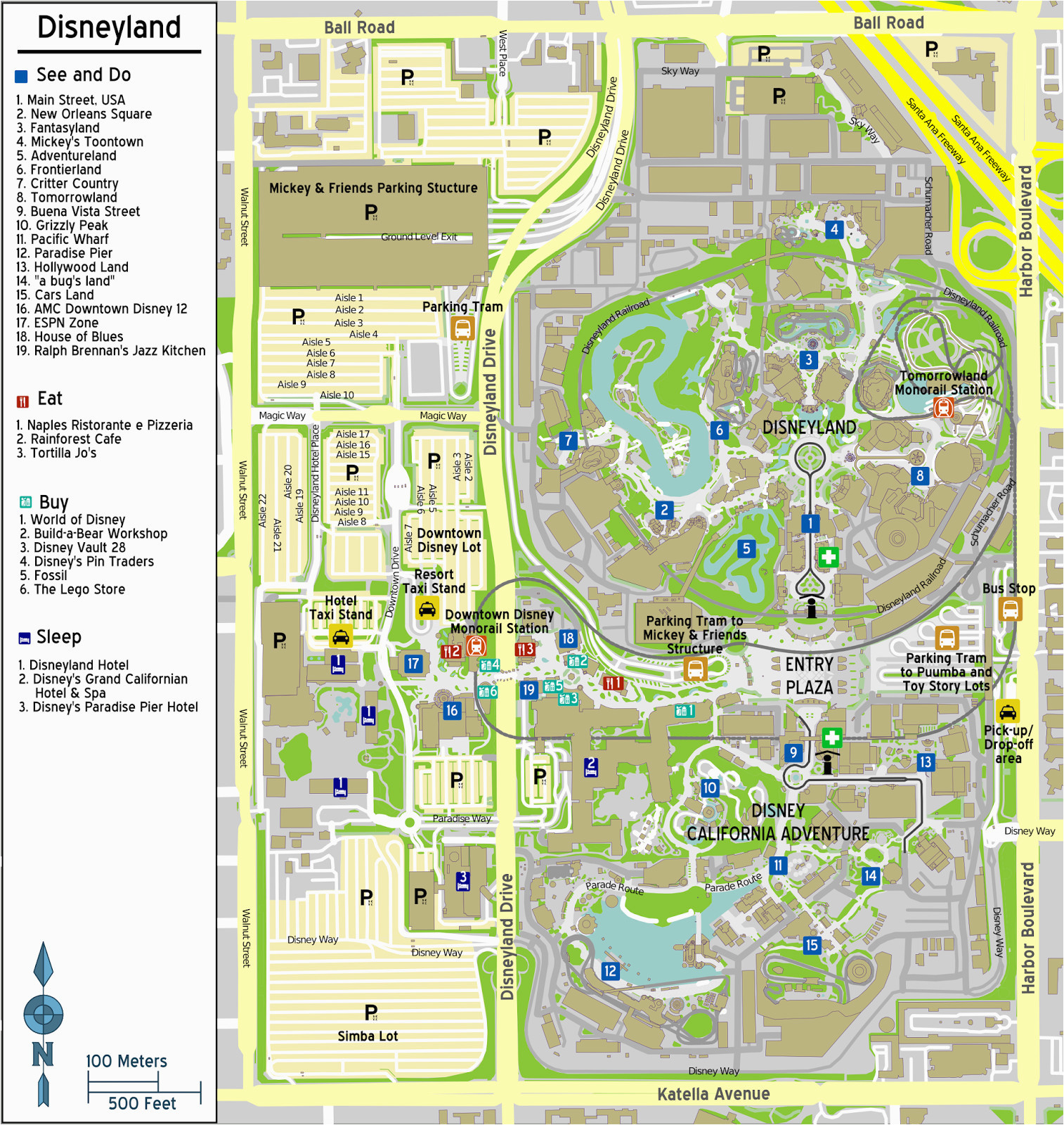 downtown disney california map printable maps map of anaheim
