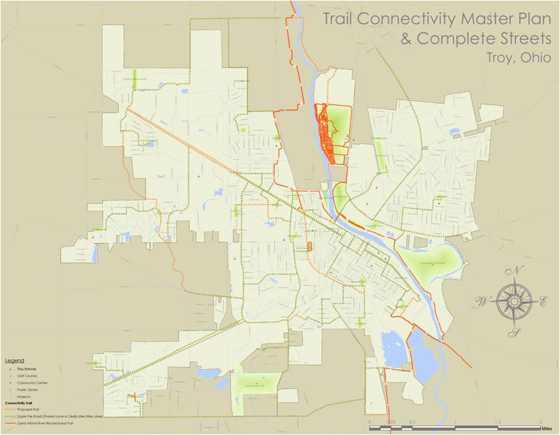 bike connectivity map troy oh official website