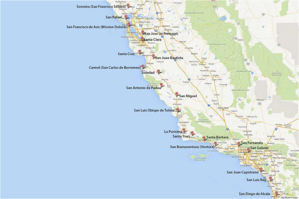 best of california mission map usa worldmaps