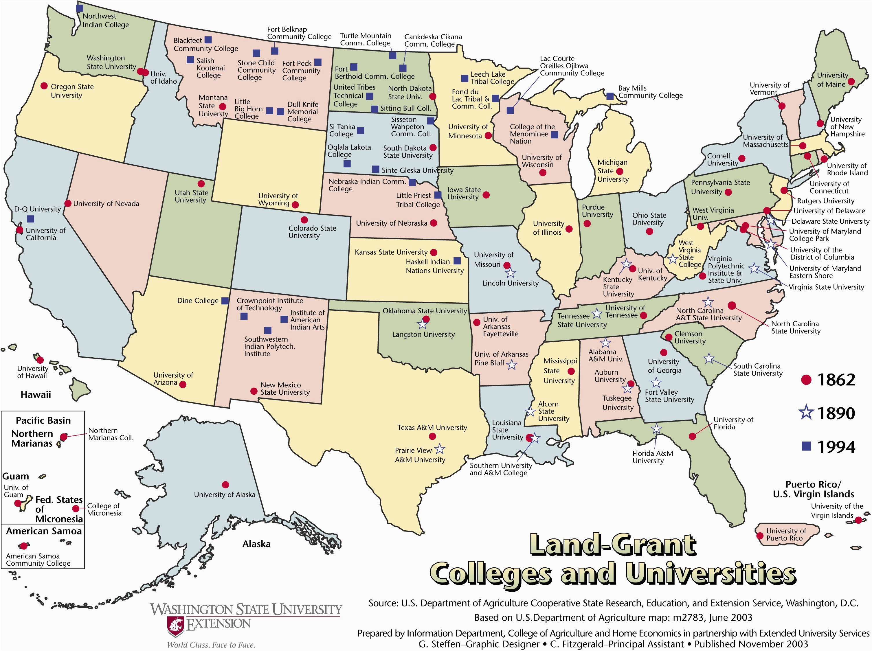 California State Universities Map Map Of California State Colleges - Map-of-all-the-colleges-in-the-us
