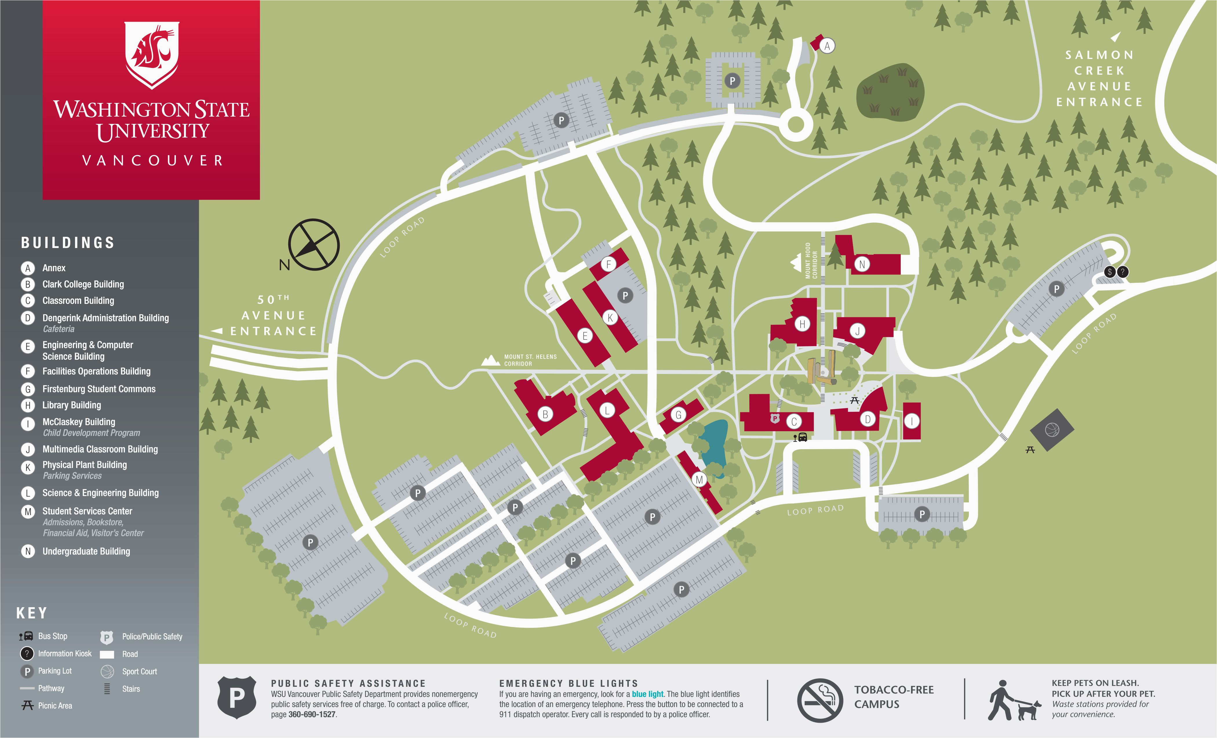 California State University Long Beach Map Campus Map Things to Do on