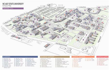 campus map north carolina a t state university
