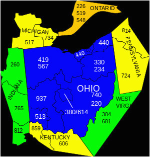 area codes in ohio map secretmuseum