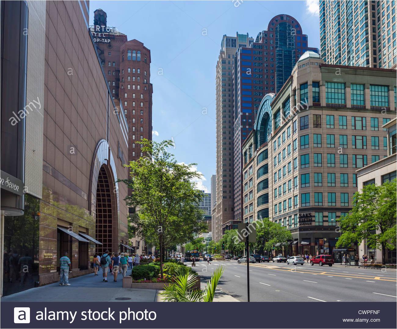 herrliche meile nord michigan avenue chicago stockfotos herrliche
