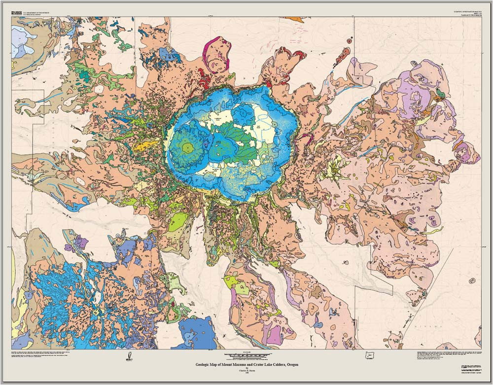 review geologic map of mt mazama crater lake caldera july 7 2009