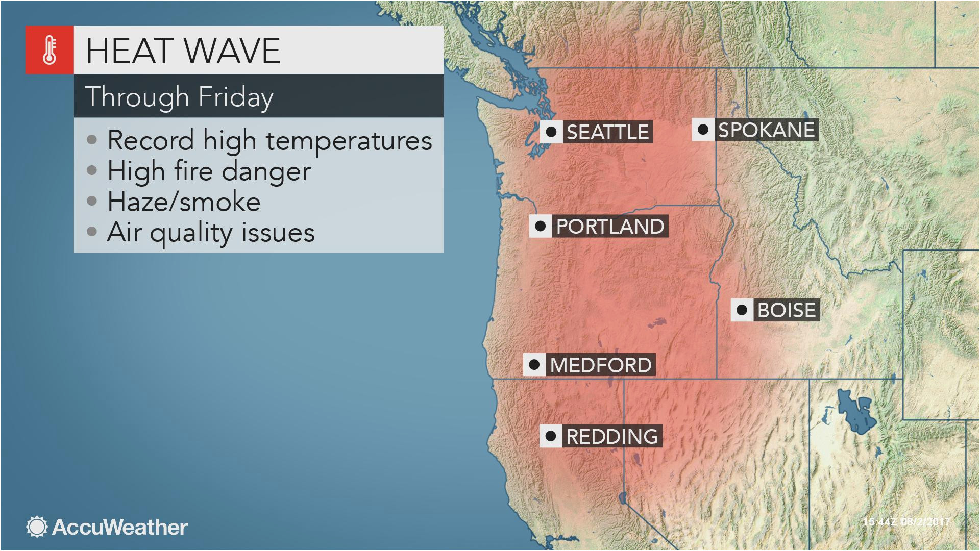 northwestern us heat wave to jeopardize all time record highs