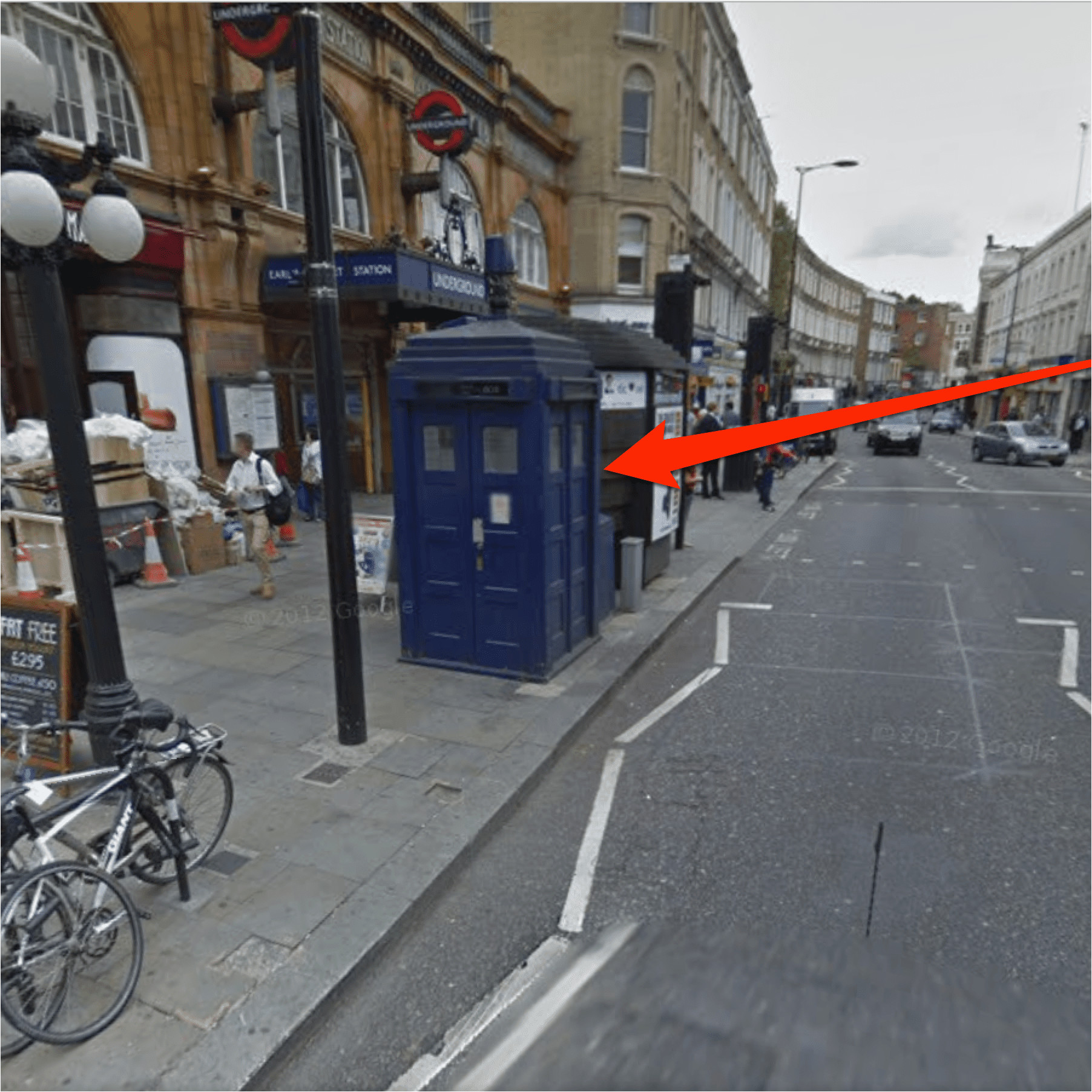 how to find the doctor who tardis in google maps