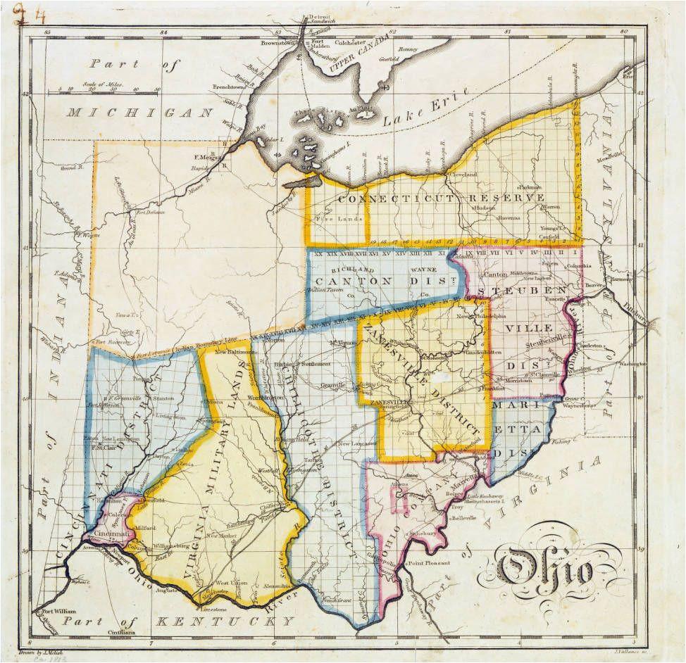 john melish map of ohio ohio history genealogy pinterest