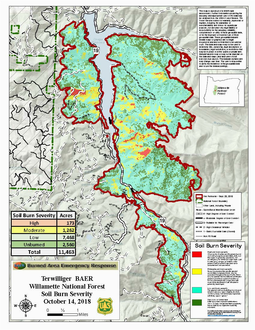 Forest Service Maps oregon Willamette National forest Fire ...